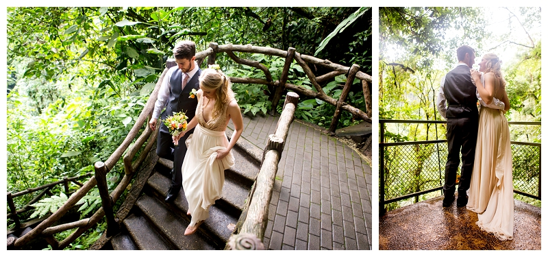 la fortuna waterfall, destination wedding, elopement