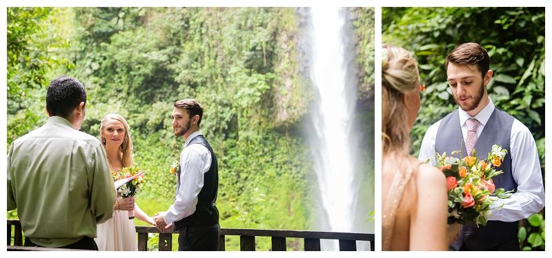 costa rica, waterfall wedding, elopement, photography