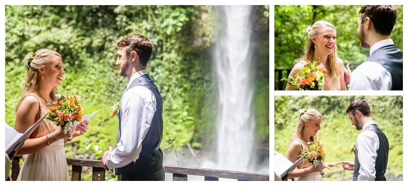 arenal, waterfall, destination wedding, photographer