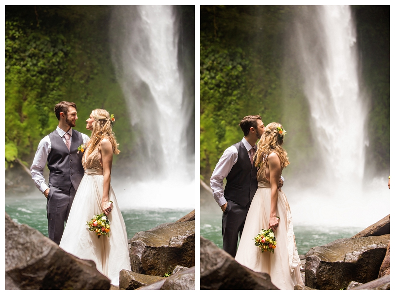 la fortuna, waterfall, wedding photography