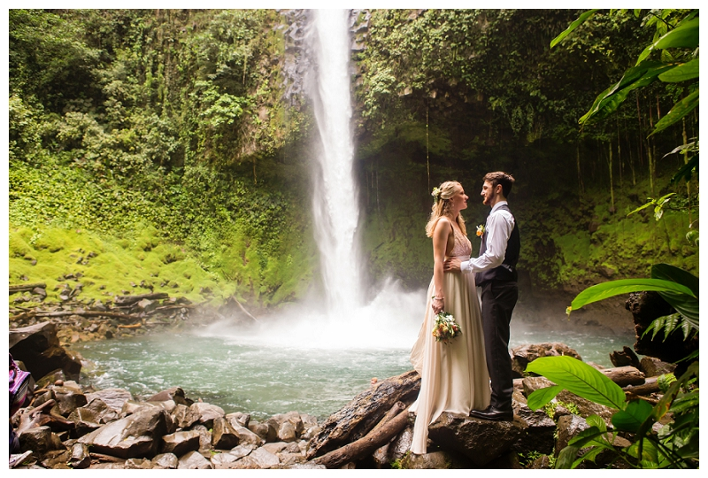la fortuna waterfall elopement, costa rica