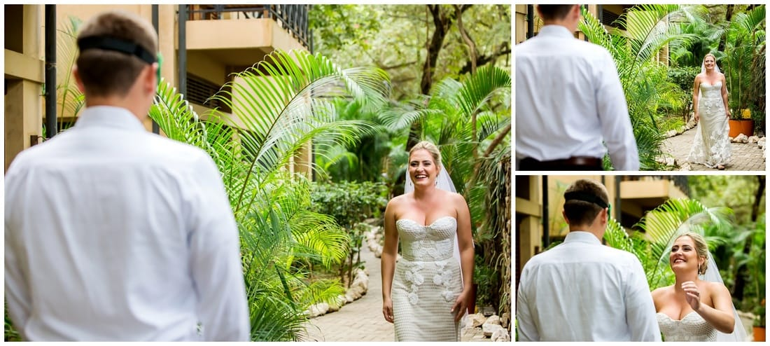 costa rica, first look, wedding photography