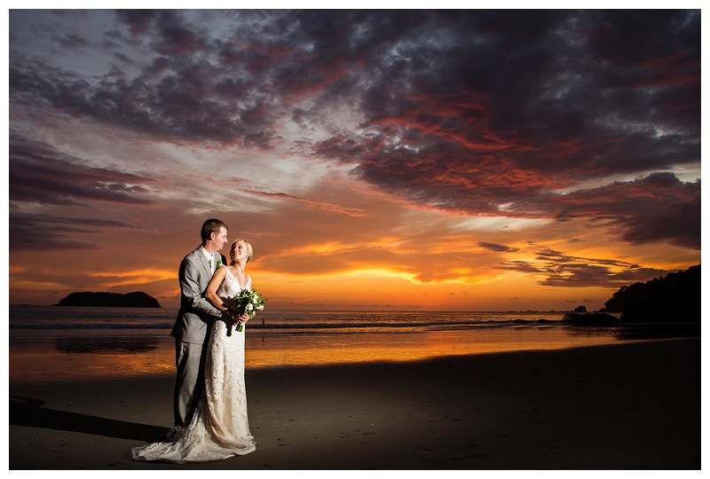sunset, wedding, manuel antonio, costa rica