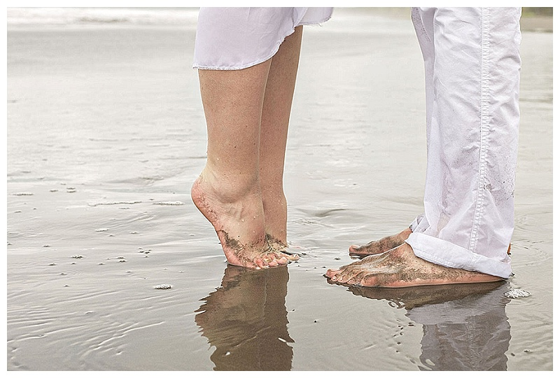 toes in the sand, wedding photography