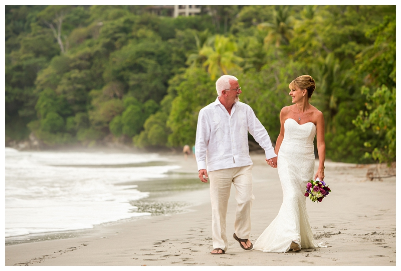 manuel antonio, beach wedding, costa rica