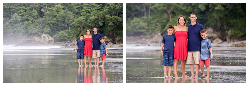 beach family portraits, manuel antonio