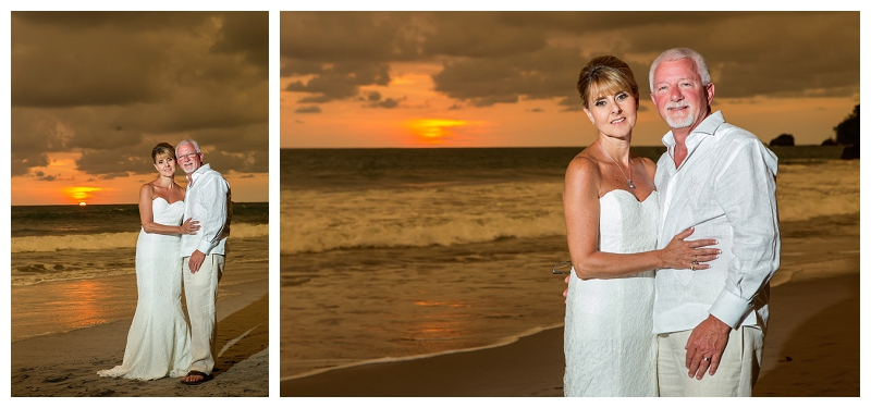 manuel antonio, sunset wedding, costa rica
