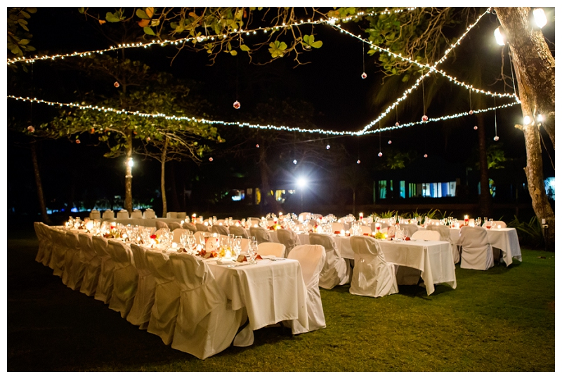alma del pacifico, wedding reception