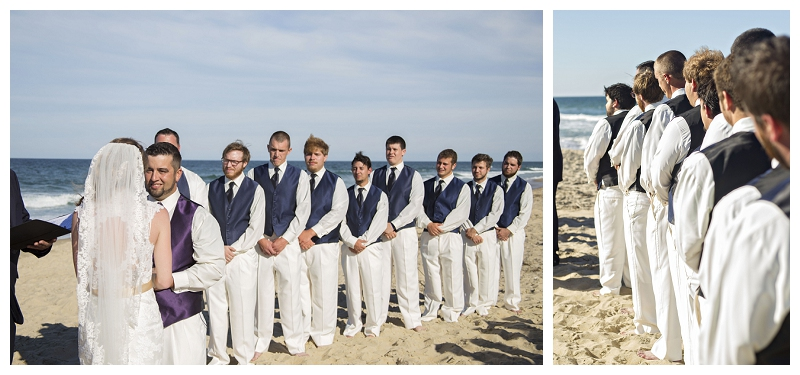 wedding ceremony on the beach, beach wedding in NC