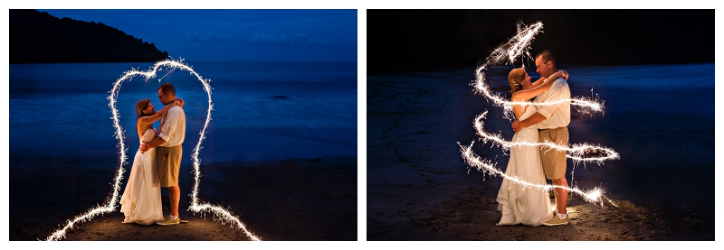 sparkler photography, costa rica