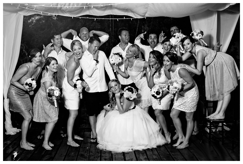 bridal party photos, costa rica