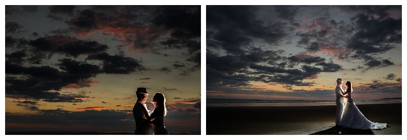 costa rica, sunset, wedding