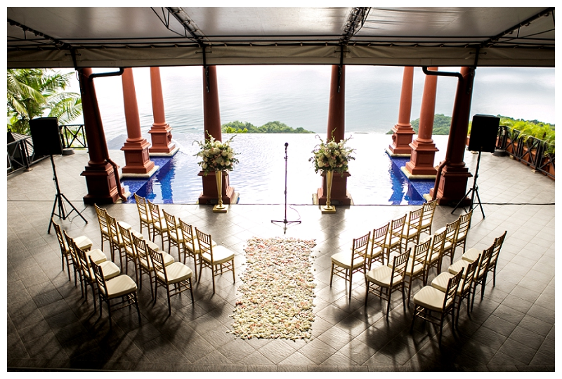 zephyr palace, ceremony, terrace, costa rica