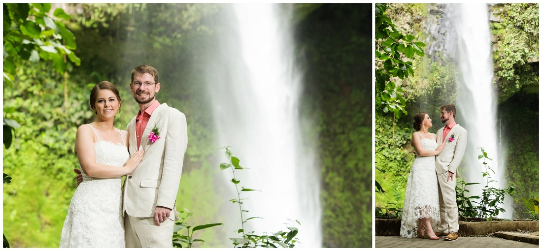 waterfall wedding, costa rica