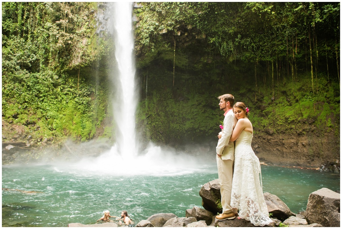 costa rica, waterfall, wedding photographer