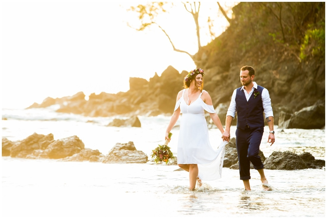 tulemar beach wedding, manuel antonio