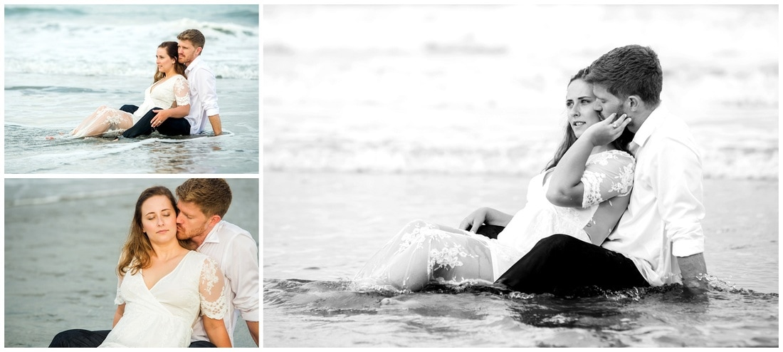 costa rica, trash the dress, beach