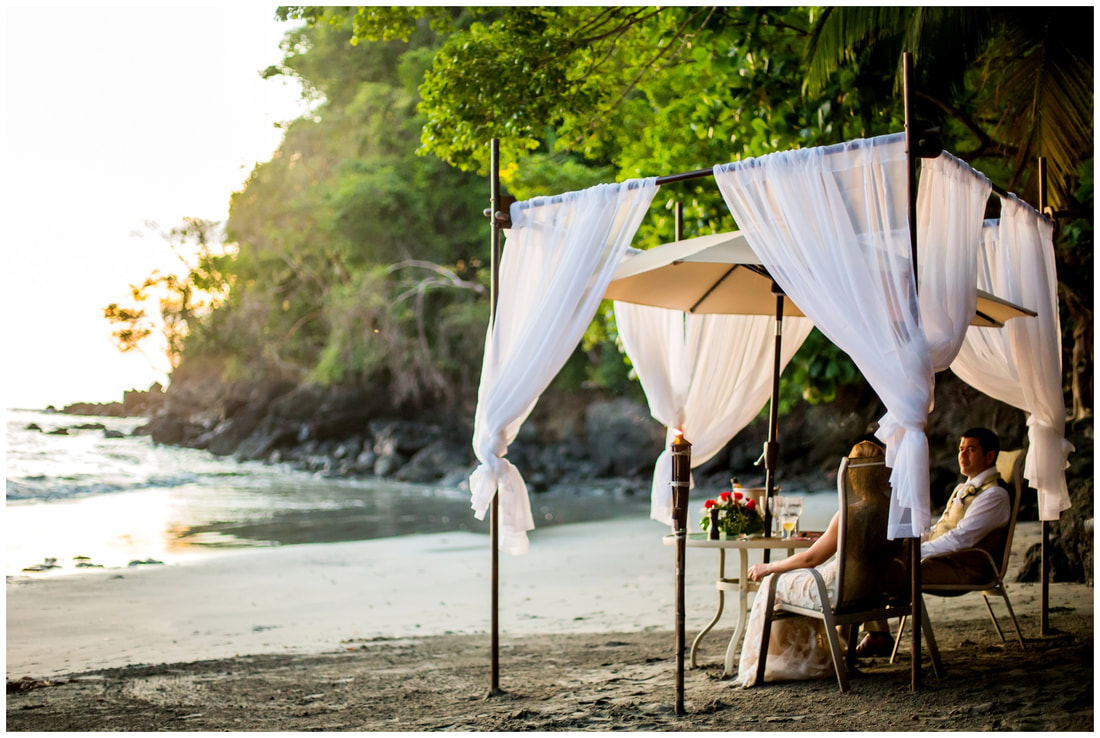 tulemar resort, beach wedding, romantic, dinner