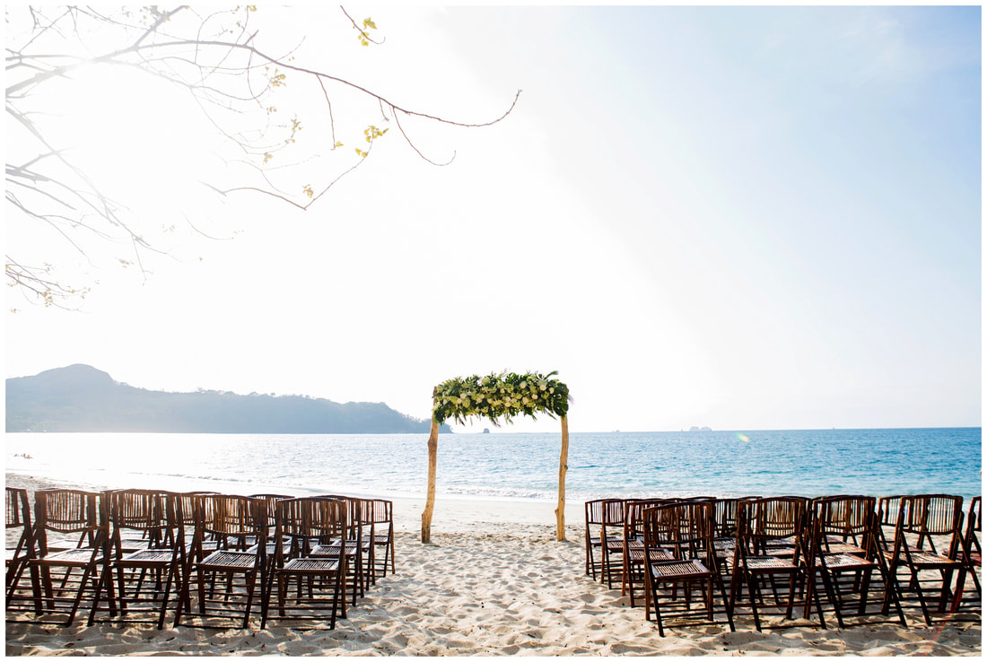 playa conchal wedding ceremony costa rica, photography
