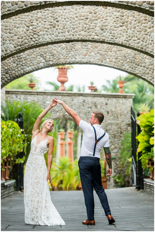 stone arches, costa rica, wedding venue