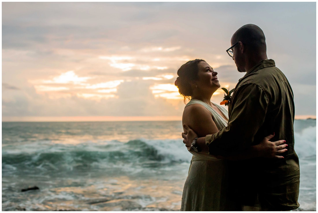 Manuel Antonio sunset wedding