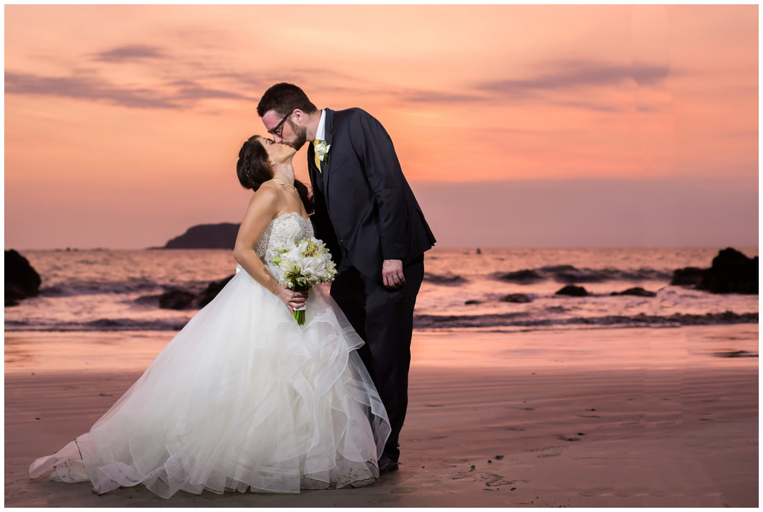 costa rica, sunset wedding, photography