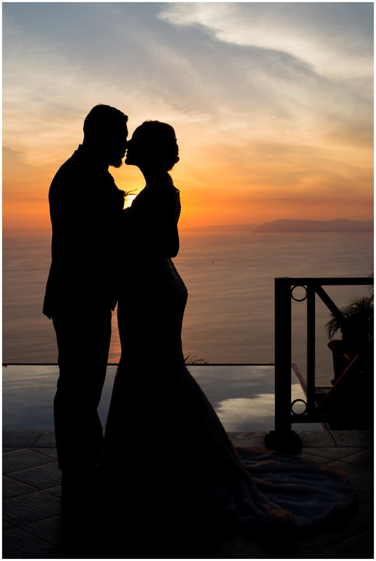 costa rica sunset wedding