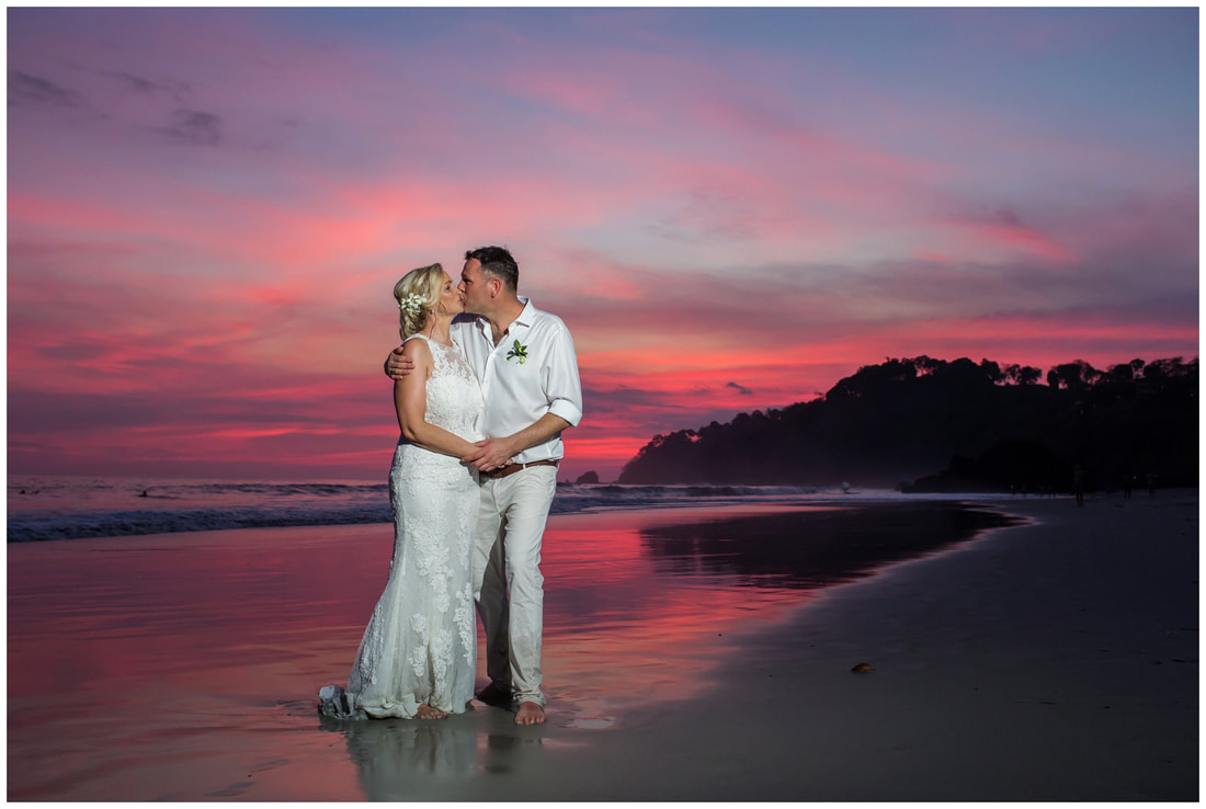 manuel antonio sunset wedding, photography
