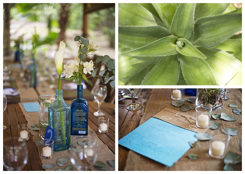 green wedding, recycled, blue, bottles
