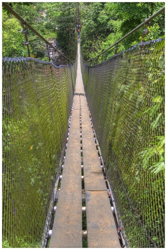 long hanging bridge, brisas del nara, costa rica