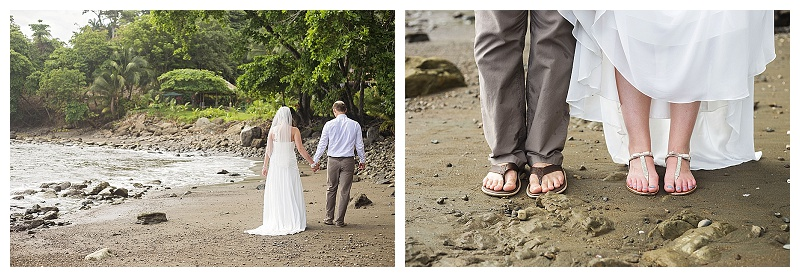 beach photos, costa rica, wedding