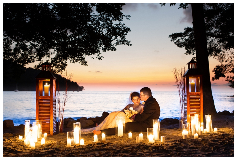 candlelit, wedding, costa rica, photography
