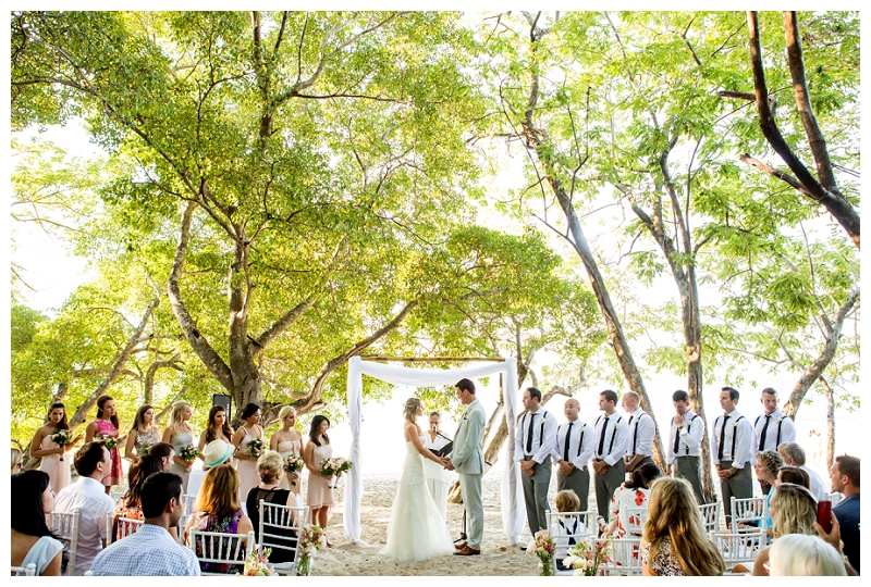 playa conchal, costa rica, wedding