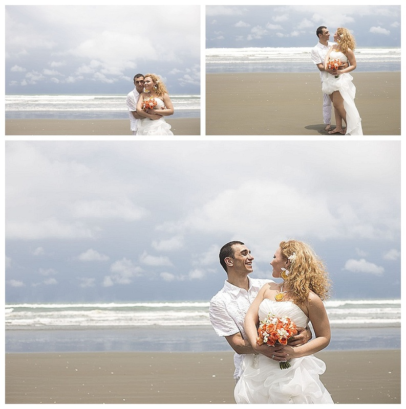 beach elopement, costa rica