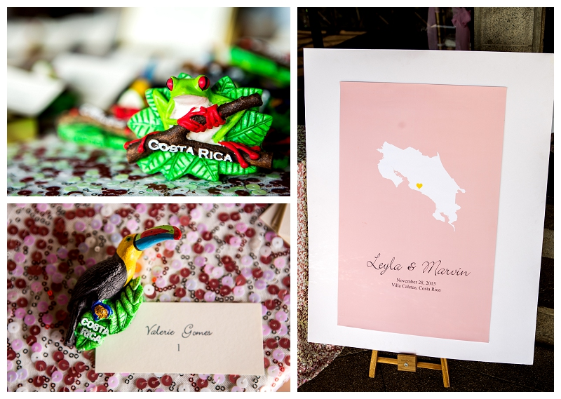 costa rica, wedding details
