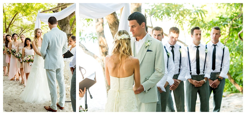 westin, costa rica, beach wedding, ceremony