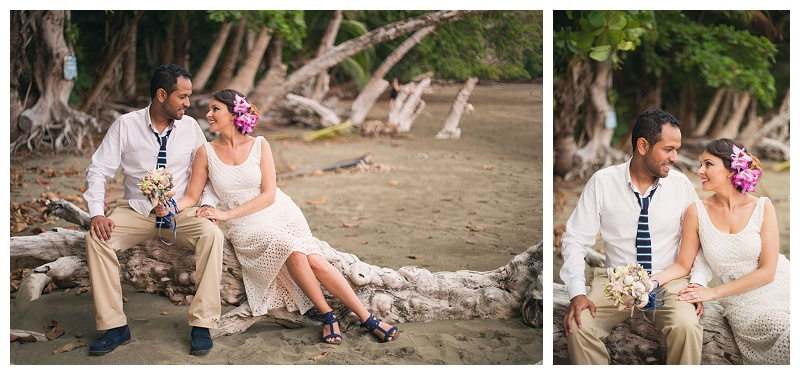 bride, groom, photoshoot, photo session, beach, costa rica