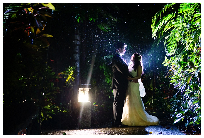costa rica, rainy, wedding