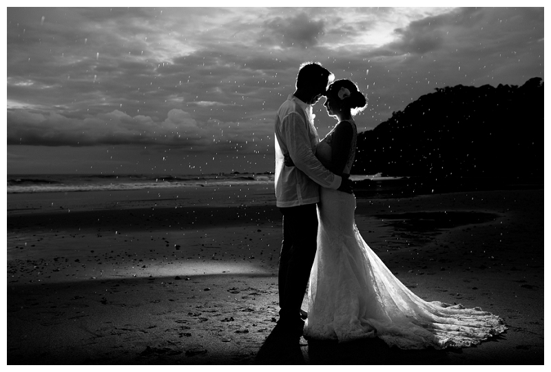 dramatic wedding photography, costa rica