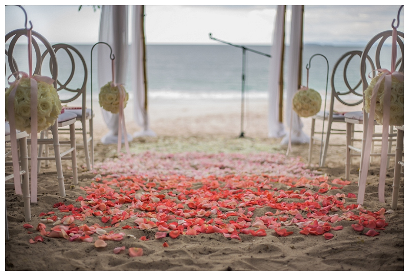 ombre, costa rica, aisle, wedding