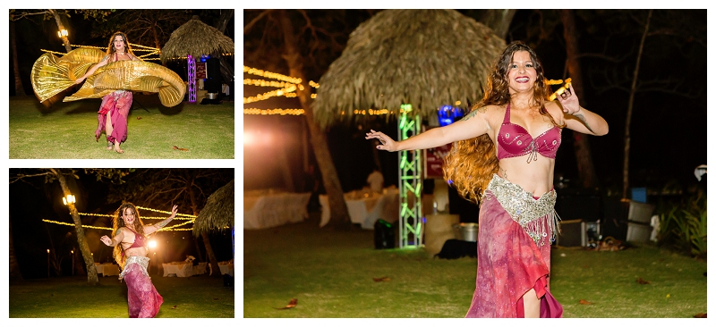 costa rica, wedding, entertainment, belly dancer