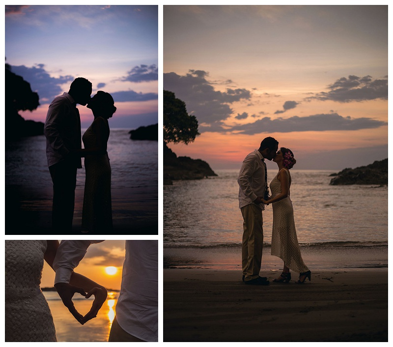 sunset wedding, photography, costa rica, dominical