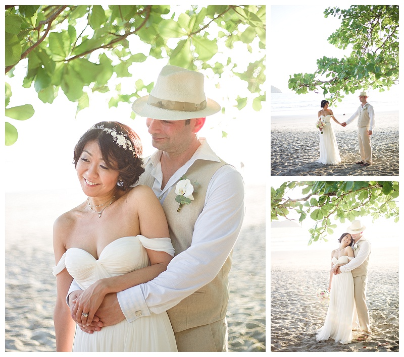 bride and groom, portraits, newlyweds, portrait session, beach photos, manuel antonio,