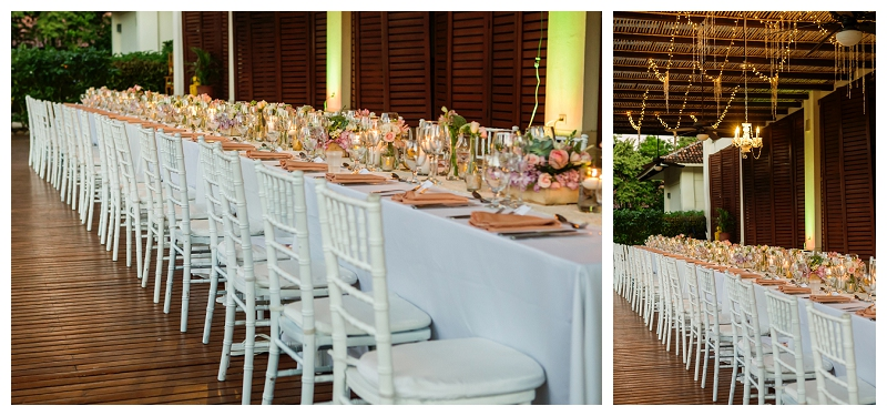 costa rica, reception decor, wedding
