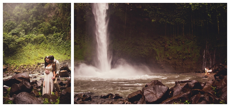 costa rica, waterfall, wedding, photography