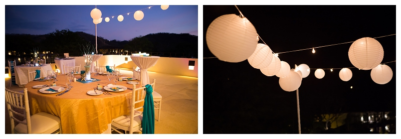 dreams, costa rica, wedding reception