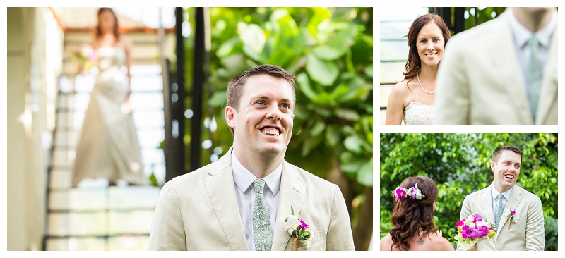 first look, destination weddings, costa rica