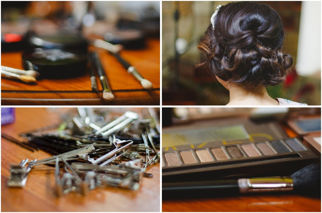 getting ready, hair by monica, discovery beach house, weddings, costa rica
