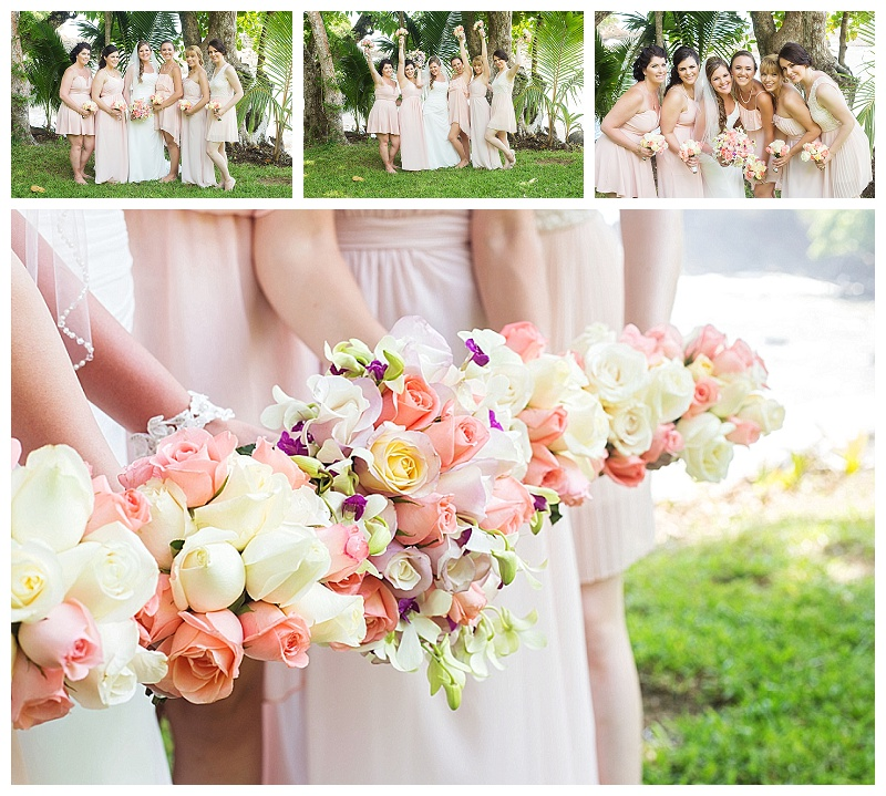 bridesmaid photos, costa rica