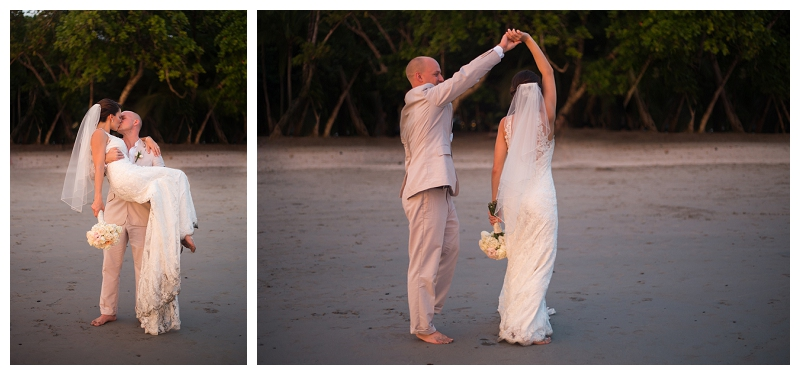 beach wedding, costa rica